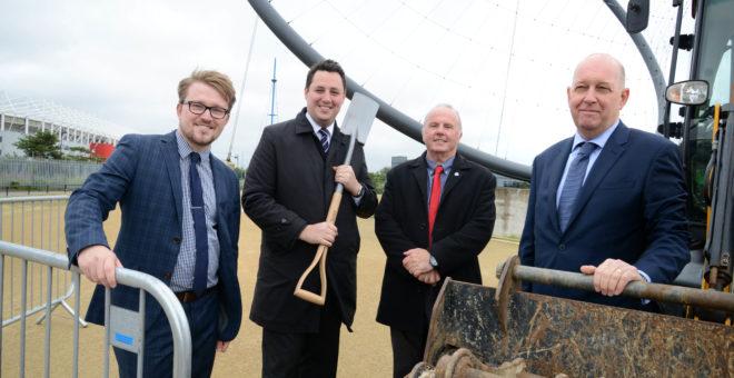Work officially begins on Dock Bridge