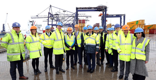 PD Ports' new £6m crane opens at Teesport
