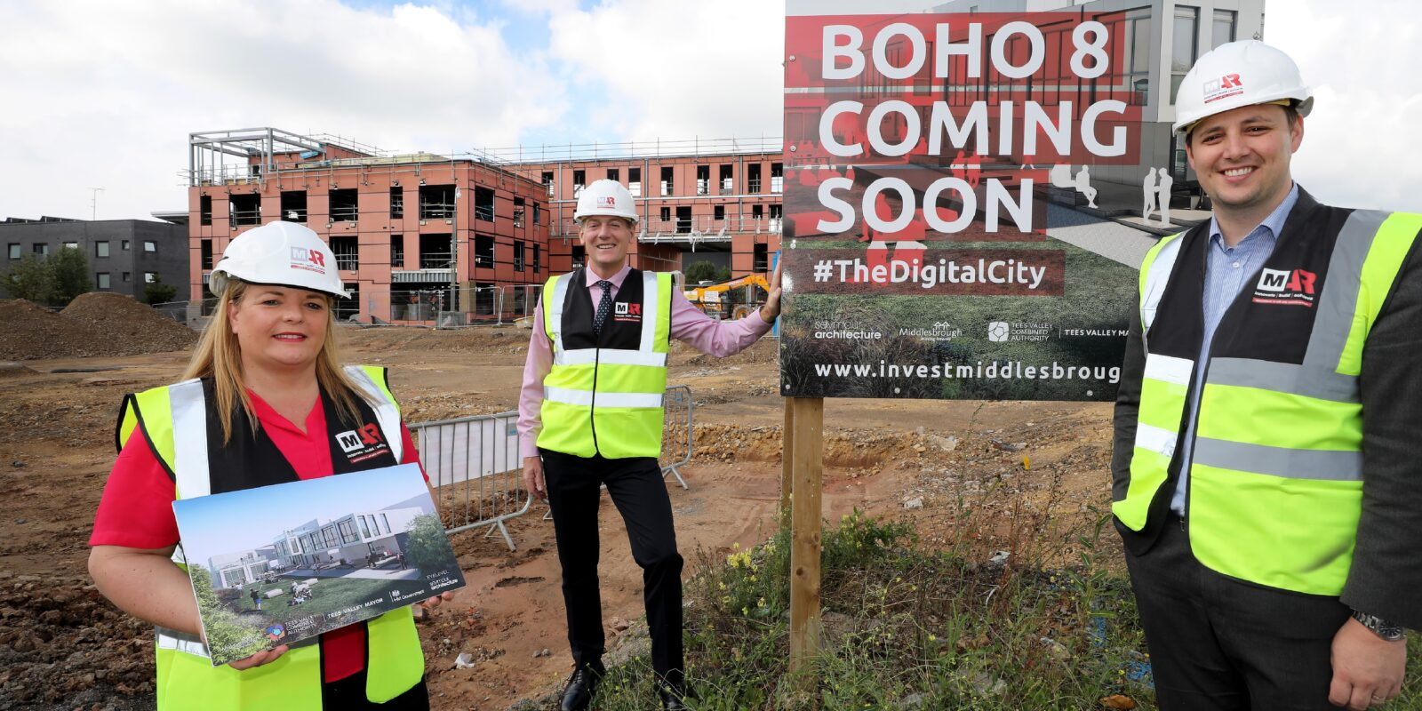 Developers on Boho 8 site and coming soon sign