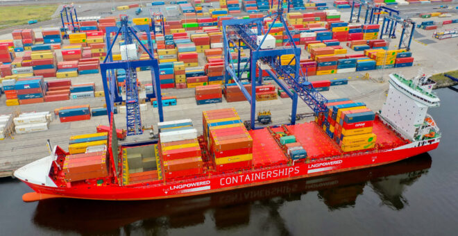 Teesport welcomes new Containerships route