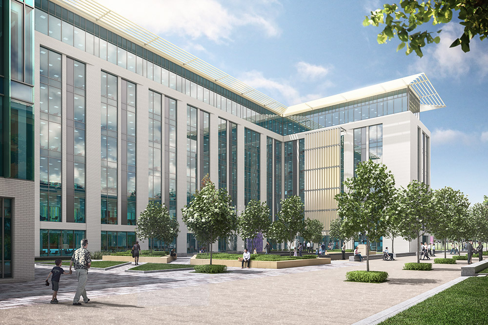 An image showing how the seven storey Centre Square building might look